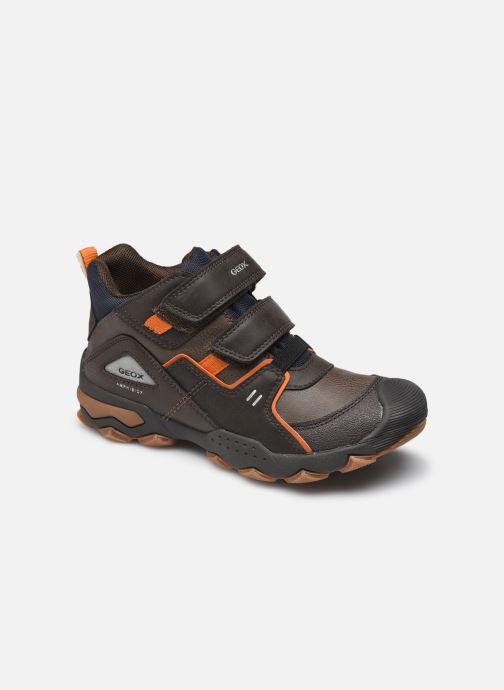 Chaussures de sport Geox J Buller Boy B Abx J169WA Marron vue détail/paire