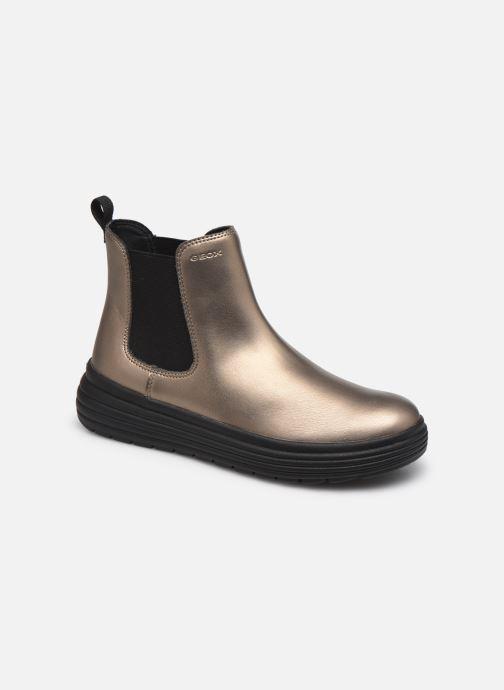 Bottines et boots Geox J Phaolae Girl J16ETC Or et bronze vue détail/paire
