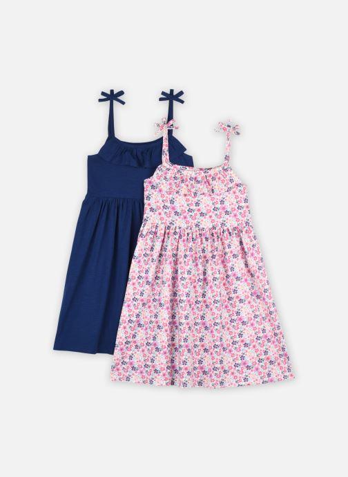 Vêtements Vertbaudet Lot De 2 Robe Maille Unie + Ao Bleu vue détail/paire