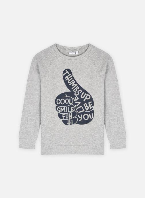 Vêtements Name it Nmmvion Ls Sweat Unb L Gris vue détail/paire