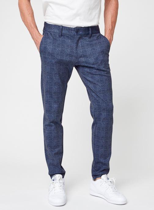 Vêtements Only & Sons Onsmark Check Pants Hy Gw 9887 Noos Bleu vue détail/paire