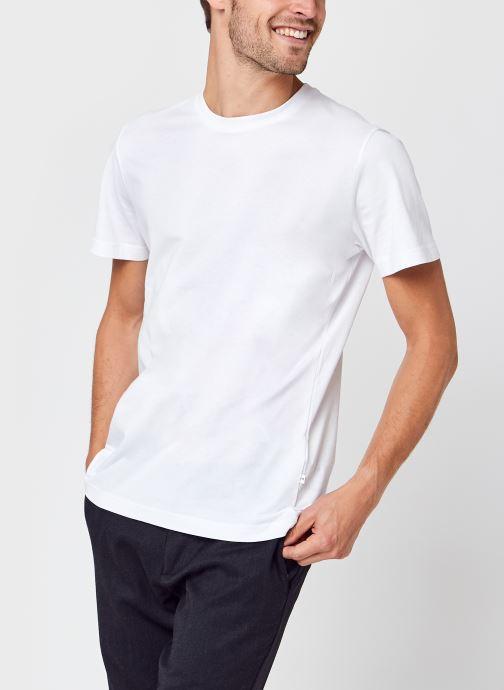 Vêtements Selected Homme Slhnorman180 Ss O-Neck Tee S Noos Blanc vue détail/paire