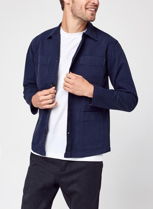 Vêtements Selected Homme Slhloosetony Overshirt Ls W Noos Bleu vue détail/paire