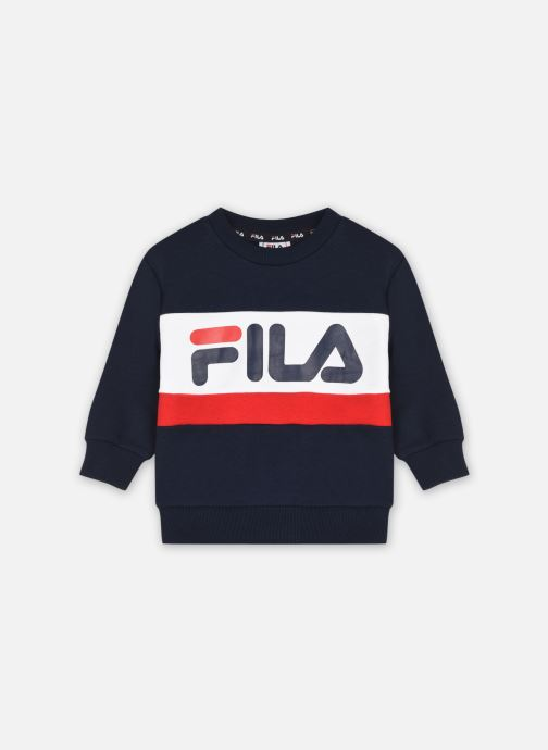 Vêtements FILA Kids Unisex Carl Blocked Crew Bleu vue détail/paire