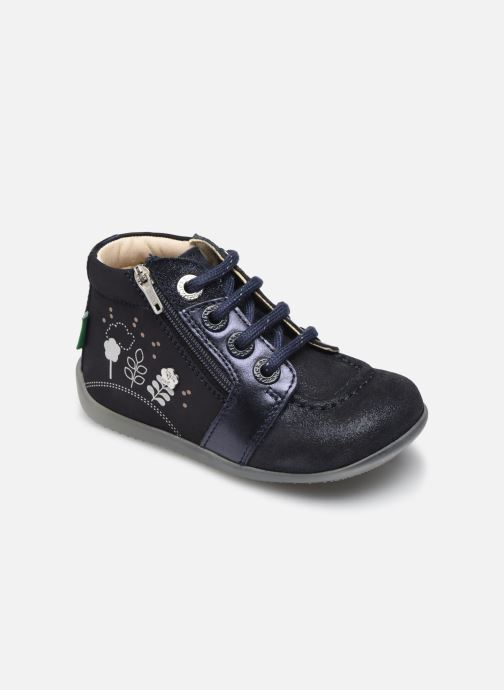 Bottines et boots Kickers Be Flower Bleu vue détail/paire