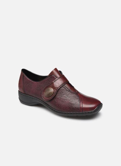 Chaussures à lacets Rieker Alienor Bordeaux vue détail/paire