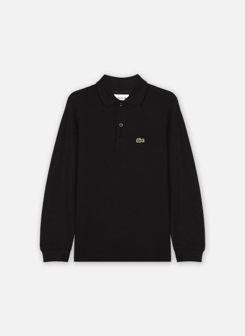Vêtements Lacoste Polo MC Logo Lacoste Enfant Noir vue détail/paire