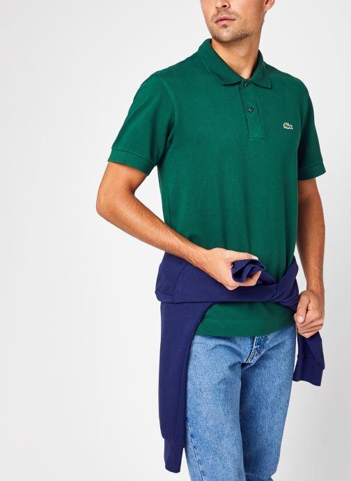 Vêtements Lacoste Polo Classique L1221 Manches Courtes Coton Biologique Vert vue détail/paire