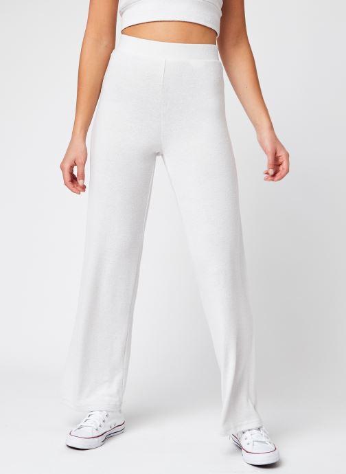 Vêtements Pieces Pcelio Hw Wide Pant Lw Bc Blanc vue détail/paire