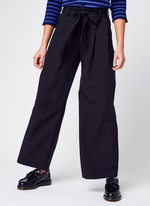Vêtements Pieces Pcfarrah Hw Wide Pants Noir vue détail/paire