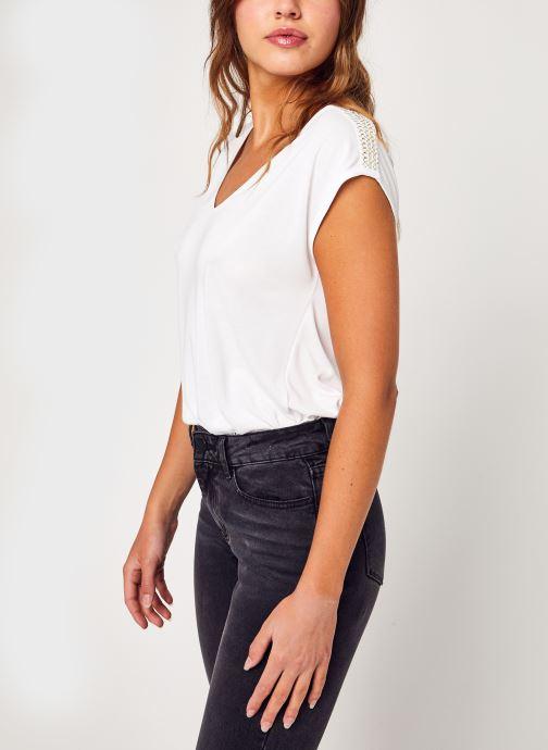 Vêtements Pieces Pchamala Ss Top Kac Fc Blanc vue détail/paire