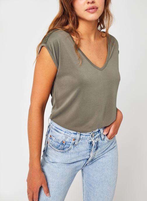 Vêtements Pieces Pchamala Ss Top Kac Fc Vert vue détail/paire