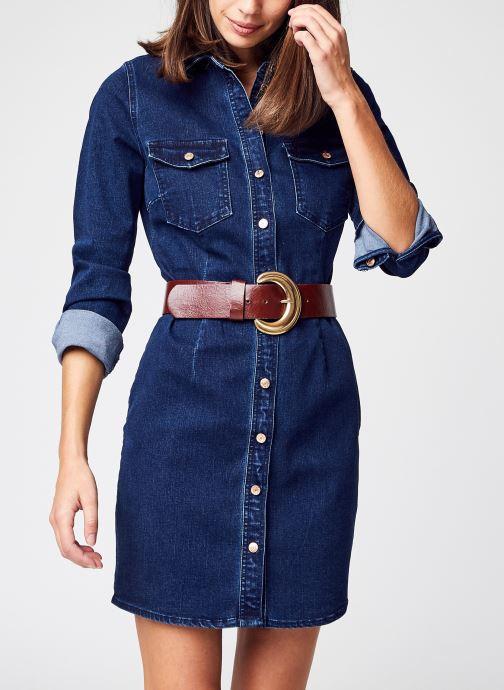 Vêtements Noisy May Nmjoy L/S Dress Su036Db Bg Noos Bleu vue détail/paire