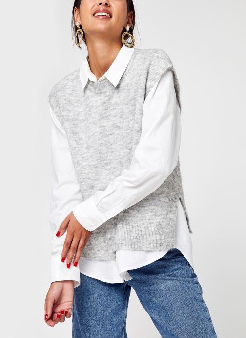 Vêtements Y.A.S Yasalva Knit Vest S. Gris vue détail/paire