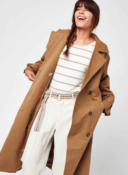 Abbigliamento Y.A.S Yasemira Ls Trench Coat S. Marrone vedi dettaglio/paio