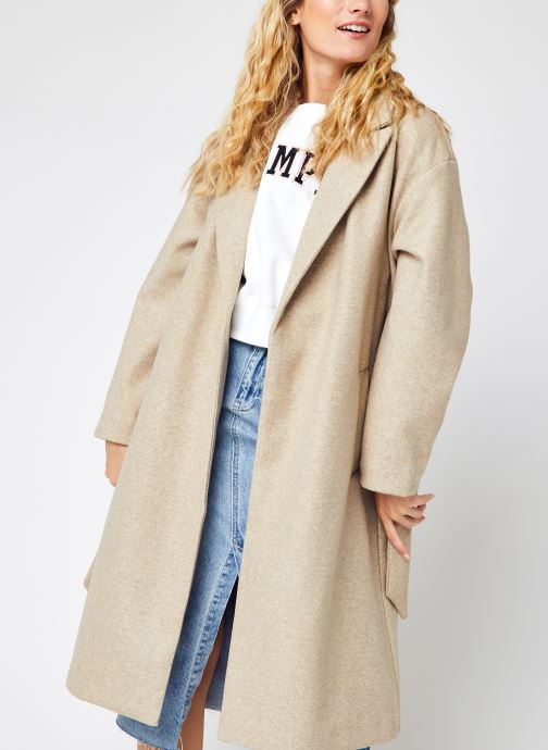 Vêtements Vero Moda Vmfortune Long Jacket Ga Noos Beige vue détail/paire