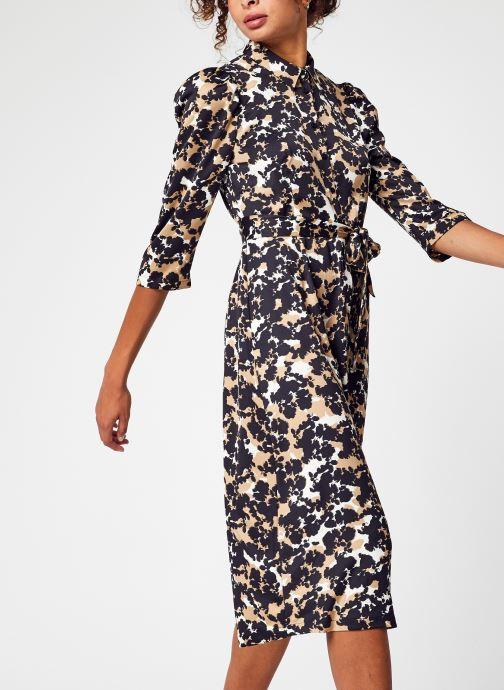 Vêtements Vero Moda Vmrio 3/4 Calf Shirt Dress Vma Marron vue détail/paire