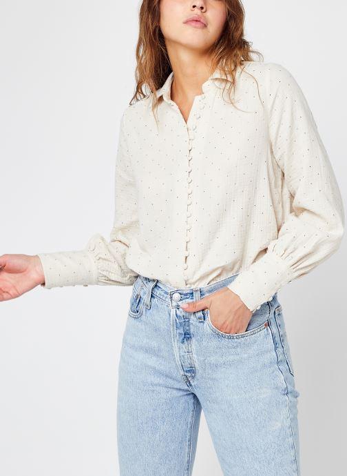 Vêtements Vero Moda Vmella L/S Shirt Wvn Lcs Blanc vue détail/paire