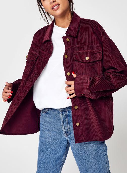 Vêtements Vero Moda Vmlamai Ls Oversize Corduroy Shirt Bordeaux vue détail/paire