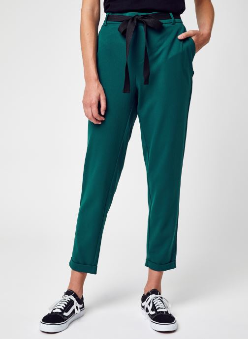 Vêtements Vero Moda Vmkaya Mr Loose Tapered Belt Pant Lcs Vert vue détail/paire