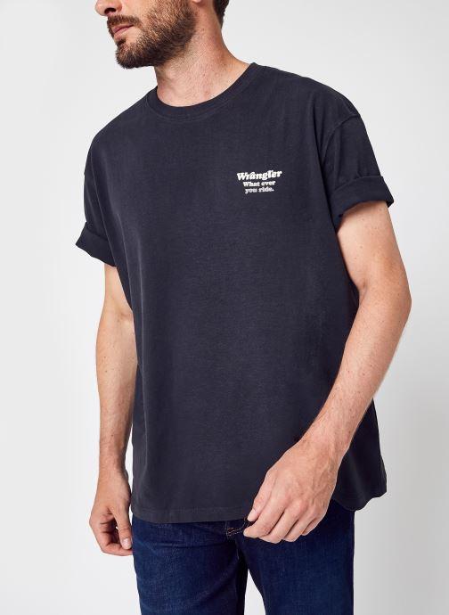 Vêtements Wrangler Wwyg Tee Noir vue détail/paire