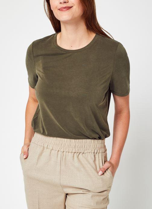 Kleding OBJECT Objannie S/S T-Shirt Noos Groen detail