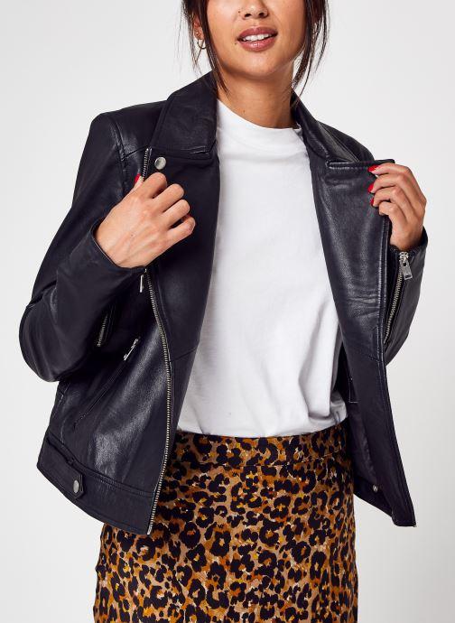 Kleding Accessoires Slfkatie Leather Jacket B Noos