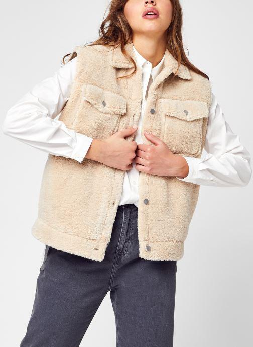 Abbigliamento Selected Femme Slfjany Teddy Vest W Beige vedi dettaglio/paio