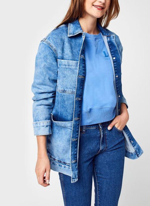 Kleding Selected Femme Slfcatelin Mid Blu Ls Lon Jeans Jacket U Blauw detail