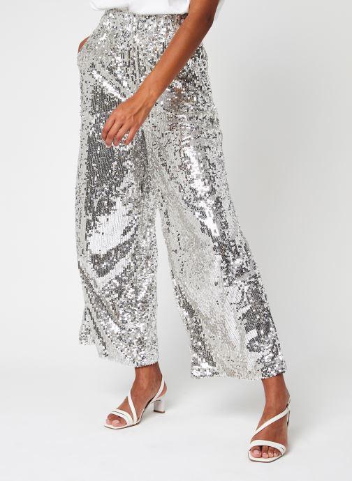 Abbigliamento Selected Femme Slfselene Hw Wide Maxi Sequins Pants  G Argento vedi dettaglio/paio