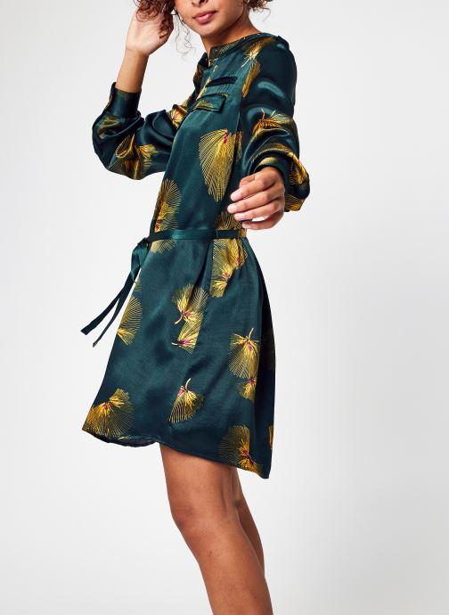 Vêtements Vila Visaruna L/S Shirt Dress/C18 Vert vue détail/paire