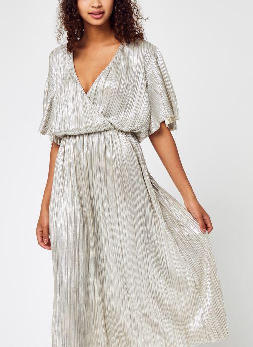 Vêtements Accessoires Visolaris Foil V-Neck S/S Midi  Dress/Dc