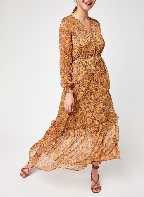 Ropa Vila Vifalia L/S Ancle Dress Marrón vista de detalle / par