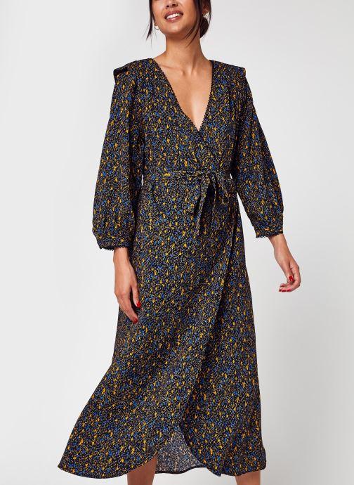 Vêtements Vila Vizugi V-Neck 3/4 Midi Dress/Su/C17 Noir vue détail/paire