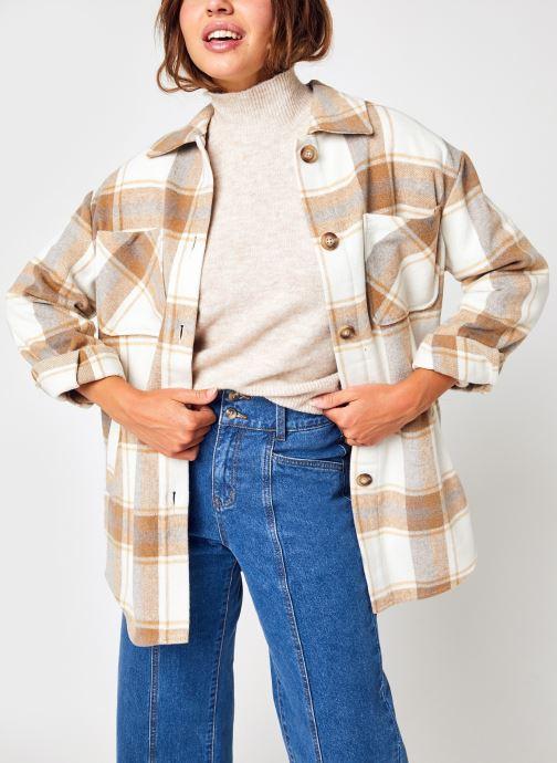 Vêtements Vila Vikimmi Check Shirt  L/S Jacket - Noos Blanc vue détail/paire