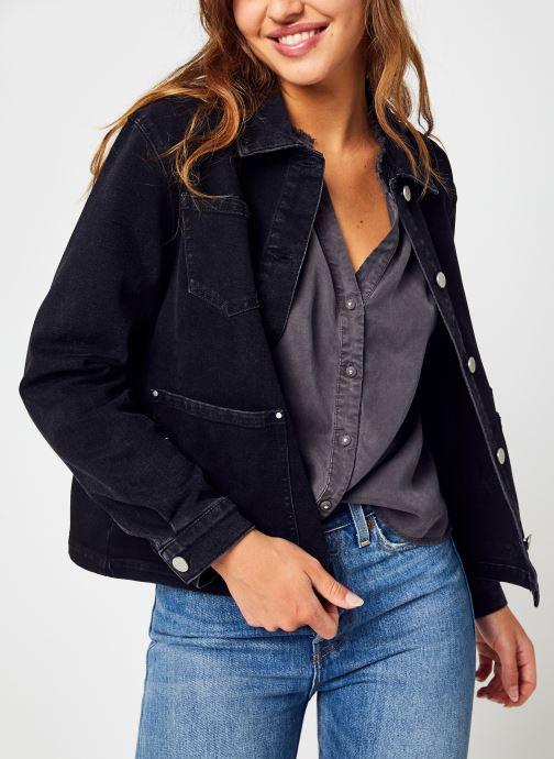 Vêtements Vila Viclaudy Crow L/S Denim Jacket/C17 Noir vue détail/paire