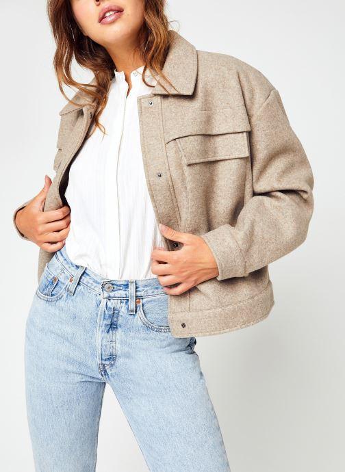 Vêtements Vila Vikacie Short Jacket/Su Beige vue détail/paire