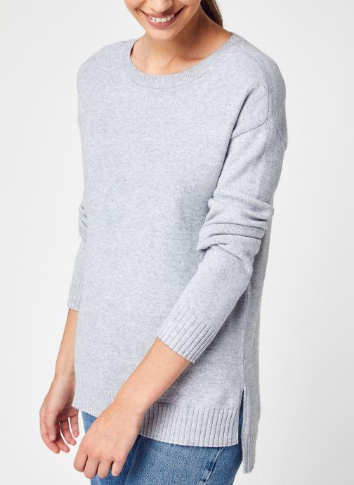 Vêtements Vila Viril High Low L/S Knit Top - Noos Gris vue détail/paire