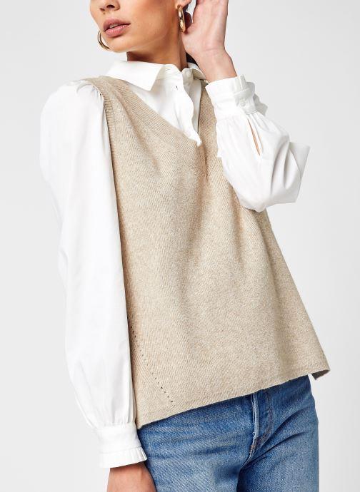 Kleding Accessoires Viril Knit Rib V-Neck S/L Vest - Noos