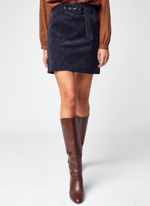Vêtements Vila Viadela Corduroy Hw Short Belt Skirt Noir vue détail/paire
