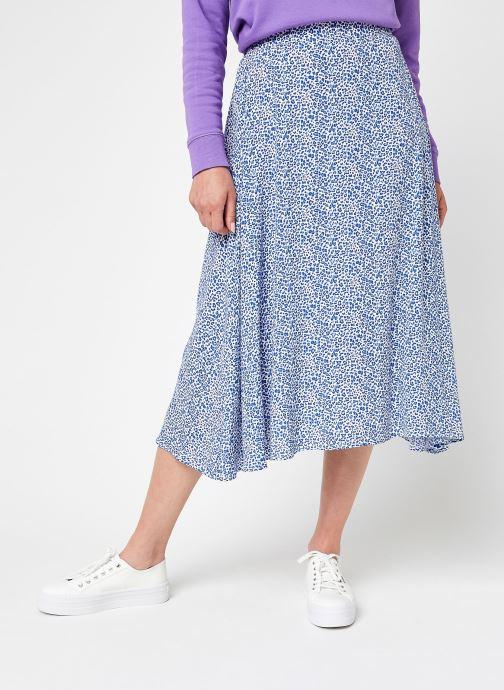Kleding Vila Vilevina Midi Skirt Blauw detail