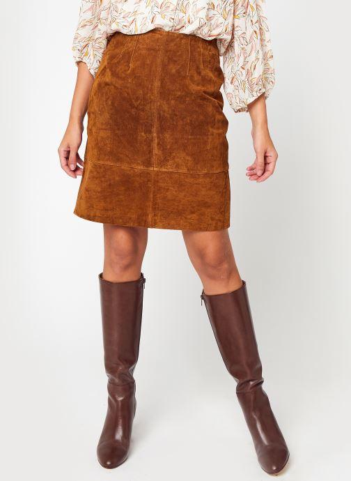 Vêtements Vila Vifaith New Hw Suede Skirt Marron vue détail/paire
