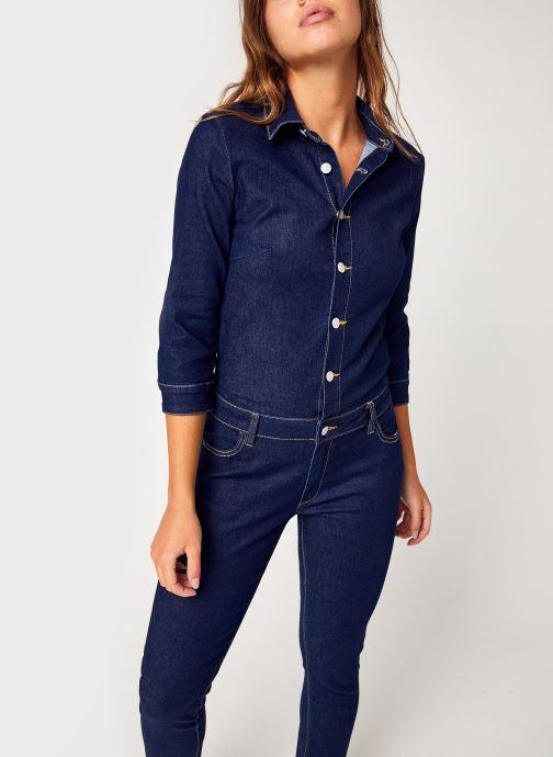 Vêtements Vila Vibarkan 3/4 7/8 Denim Jumpsuit Bleu vue détail/paire