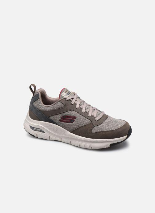 Chaussures de sport Skechers ARCH FIT - Leather Overlay Lace-Up Gris vue détail/paire