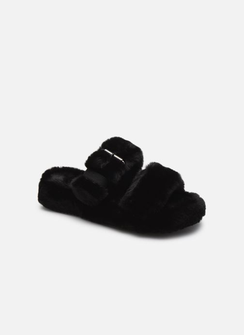Hausschuhe Skechers COZY WEDGE schwarz detaillierte ansicht/modell