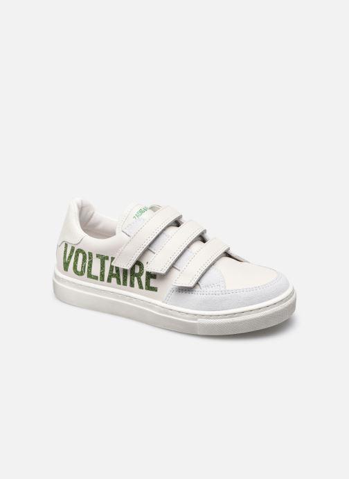Baskets Zadig & Voltaire X19T25 Blanc vue détail/paire