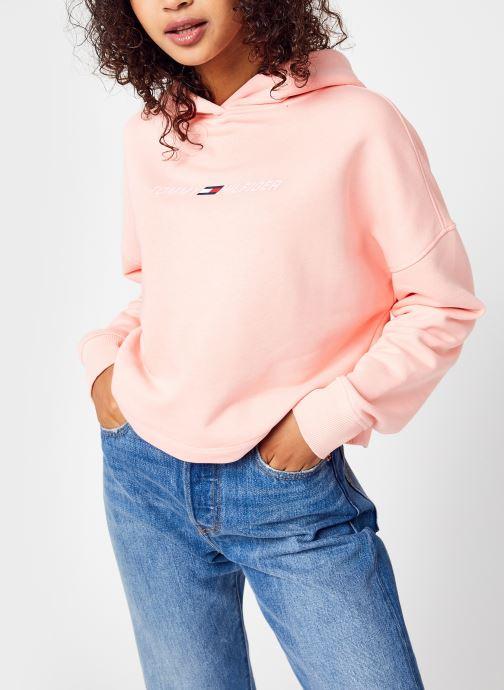 Abbigliamento Tommy Sport Regular Graphic Hood Rosa vedi dettaglio/paio