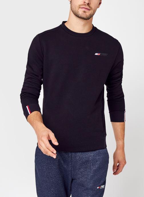Abbigliamento Tommy Sport Logo Fleece Crew Nero vedi dettaglio/paio