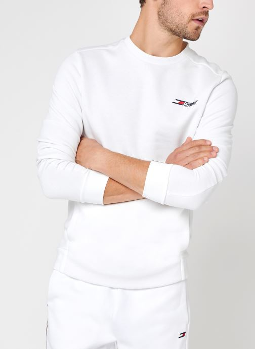 Abbigliamento Tommy Sport Logo Fleece Crew Bianco vedi dettaglio/paio