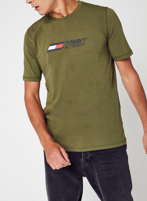 Abbigliamento Tommy Sport Logo Tee Verde vedi dettaglio/paio